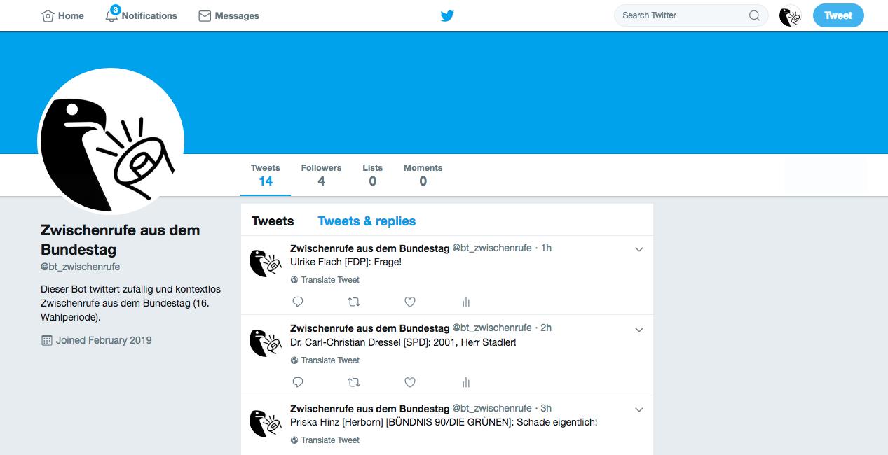 Twitterseite